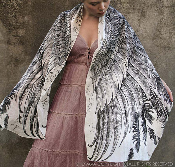owl-wing-printed-scarf-5