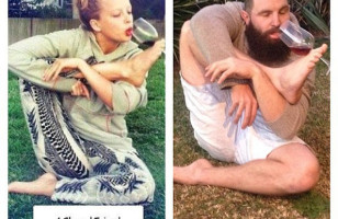 Guy Hilariously Recreates Photos Of Girls On Tinder