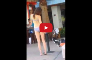 Eesh, A Painful Video Of A Drunk Bikini Girl Taking All The Selfies