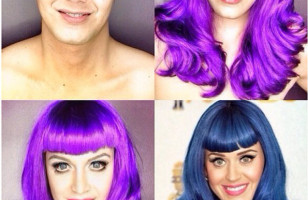 See A Man Transform Himself Into Stars Using Makeup