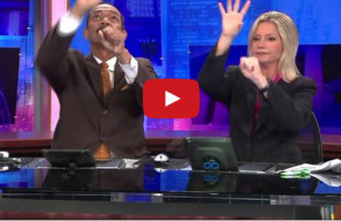 News Anchors Have Amazingly Elaborate Handshake