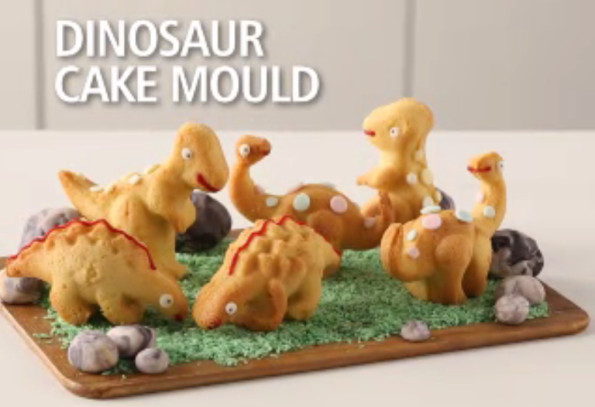 This 3d Dinosaur Cake Mold Bakes Up Your Favorite Dinos