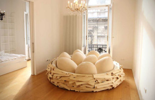 This Giant Bird's Nest Sofa Is Absolutely Eggcellent