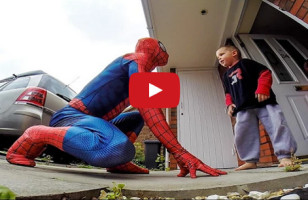 A Sweet Dad Surprises His Sick Little Boy As Spider Man