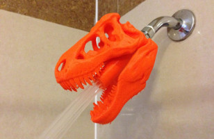 Your Bathroom Needs This 3D Printed T-Rex Shower Head
