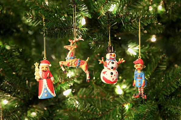 Zombie Christmas Ornaments