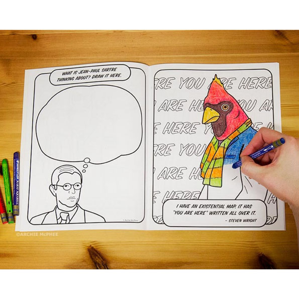 The Existential Coloring Book Is For Deep Thinkers