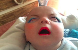 A Newborn Baby Gets Hilarious Make Overs Through An App