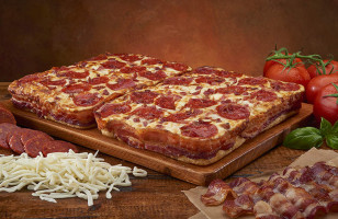 A Deep-Dish Pizza With A Crust Wrapped In 3.5 Feet Of Bacon