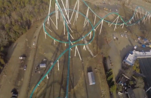 A First Person POV Video From A 325ft, 95MPH Roller Coaster