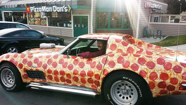 Your New Dream Car Is This Pepperoni Pizza Corvette