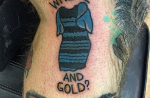Someone Already Got #TheDress Tattooed & More Incredible Links