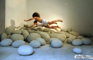 Pebble Pillows Are Cozy Cushions That Look Like Giant Rocks