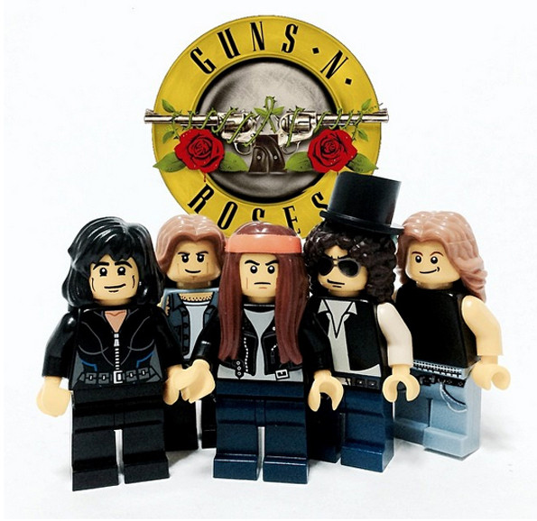 Famous Rock Bands & Musicians As LEGO Minifigs