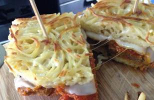 Dear Meatball Sandwich With A Spaghetti Bun, Get In My Belly