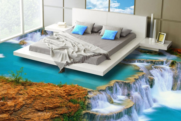 Transform your floors with 3d epoxy flooring for Beach scene bedroom ideas