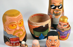 These Big Lebowski Nesting Dolls Really Tie The Room Together
