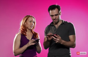 Couples Look Through Each Other's Phones…. Awkward!