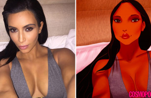 If Disney Princesses Took Kim Kardashian Selfies…