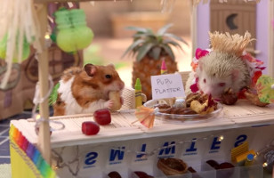 Tiny Hamster Has A Tiny Tiki Party & It Is Majorly Cute