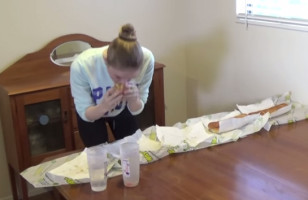 A Model Takes On The 5 Subway Footlong Challenge & Kills It
