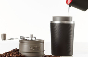 This All-In-One Coffee Maker Grinds, Brews & Contains Coffee