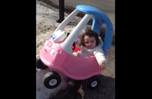 A Dad Plays Highway Patrol When His Little Girl Crashes Her Toy Car