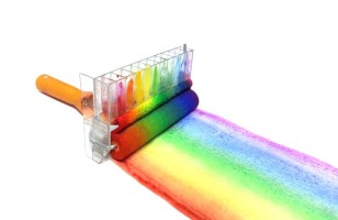 The Rainbow Roller Is A DIY Paint Roller That Paints Rainbows