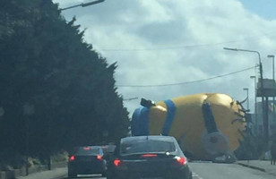 So, A Giant Inflatable Minion Caused A Traffic Jam In Dublin