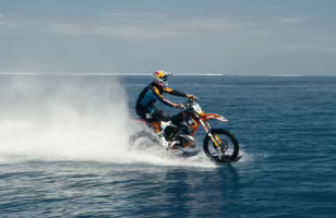 Whoa, Watch This Stunt Rider Take His Dirt Bike On Water