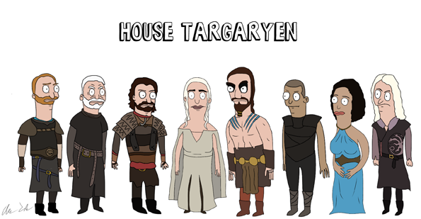 Bob S Burgers X Game Of Thrones