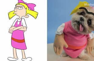 Look, It's Marnie The Dog Dressed Up As 90s Cartoon Characters!
