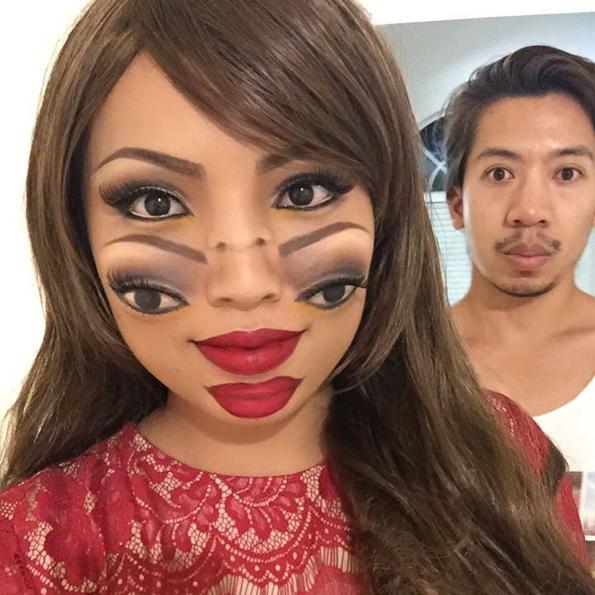 this makeup artist gave herself a creepy cool makeover. Black Bedroom Furniture Sets. Home Design Ideas