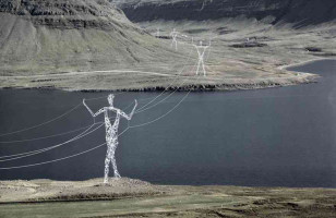 Architects Reimagine Power Line Towers As Human Sculptures