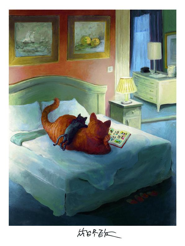 Rudi Hu.Comic Cats