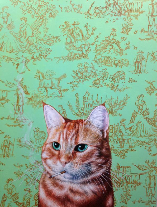 SMOKING CAT_CAINES