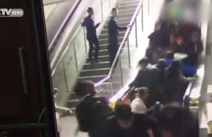 Watch What Happens When An Escalator Malfunctions