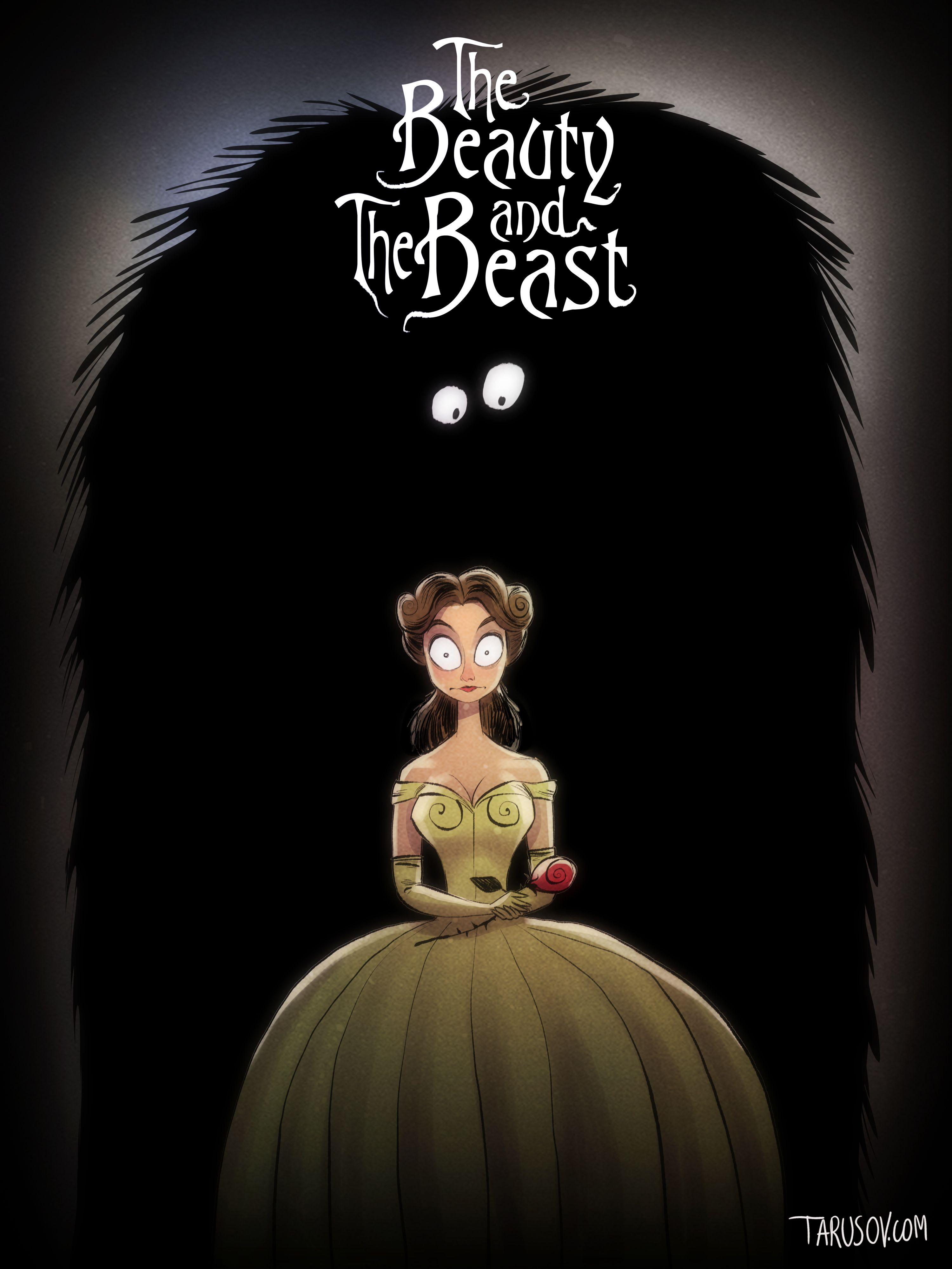 Disney Characters Drawn In The Style Of Director Tim Burton