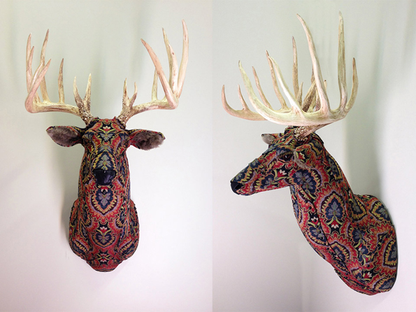 upholstered-faux-taxidermy-animal-head-wall-mounts-5