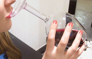 The Upside Down Wine Glass, Because You're Wild As Hell