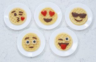 Express Yourself At Breakfast With These Emoji Waffles
