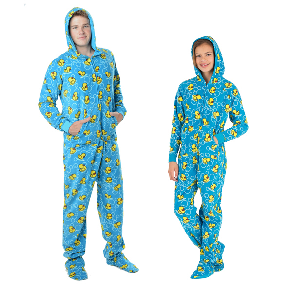 hooded-rubber-ducky-footie-pajamas