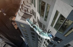 Los Angeles Building Gets An Exterior Slide 1k Ft Above Ground