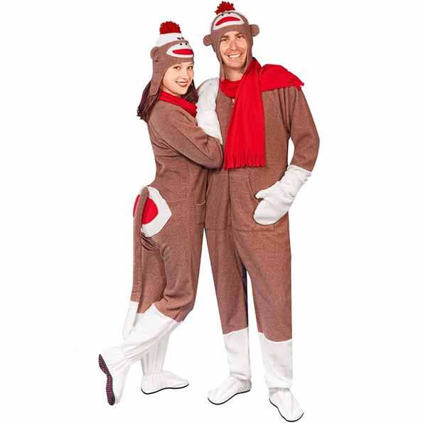 sock-monkey-butt-flap-footie-pajamas