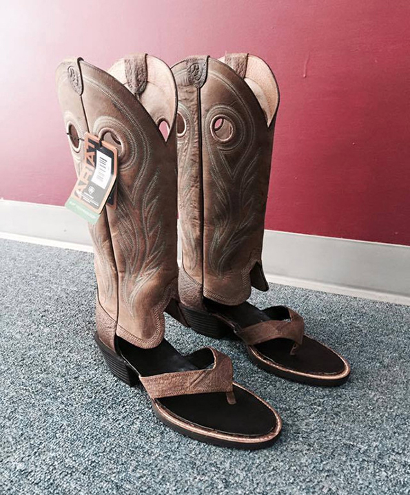 Are Cowboy Boot Sandals The Latest Trend For Summer