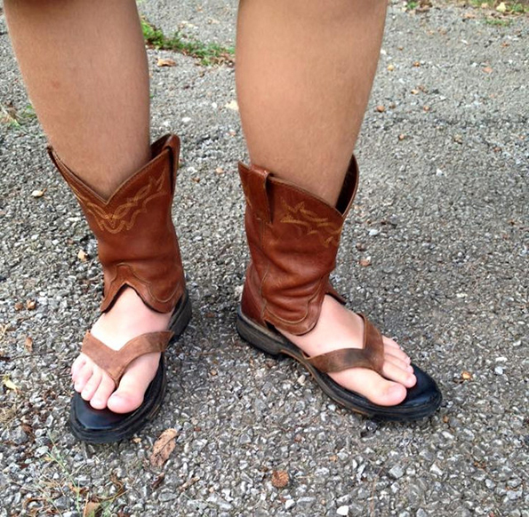 75 Cool Foot And Flip Flop Tattoos: Are Cowboy Boot Sandals The Latest Trend For Summer?