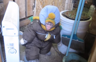 This Monkey In A Snowsuit Totally Thinks He's A Person
