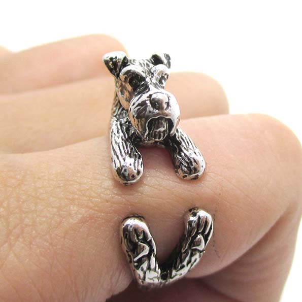 puppy animal itm ring bt dog fashion pugs rings ccee wrap adjustable pet vintage