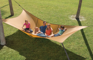 The Giant Hammock Can Seat Up To Five Grown Adults