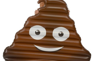You're Gonna Want This Giant Inflatable Poop Emoji Float